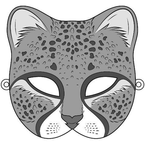 Cheetah Mask Template Free Printable Papercraft Templates With Regard To Cheetah Mask Template Download More Free Printab Mascaras Carnaval Carnaval Mascaras