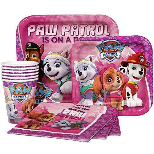 girls paw patrol party supplies