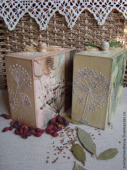 """Набор коробов """"Укропчик"""" (резерв) - оливковый,короб для хранения,короб для кухни:"""