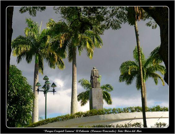 Plaza Bolívar del Parque Ezequiel Zamora (El Calvario) (Caracas-Venezuela)