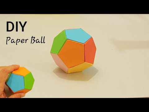 How To Make Paper Ball Easy Paper Crafts For Kids Origami Ball Youtube Origami Ball Paper Balls Paper Crafts