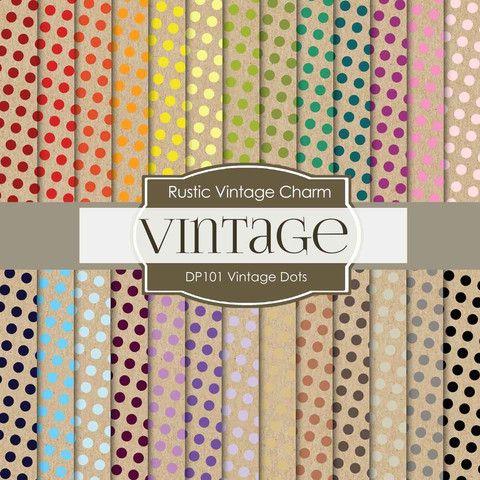 Vintage Dots Digital Paper DP101 - Digital Paper Shop - 1