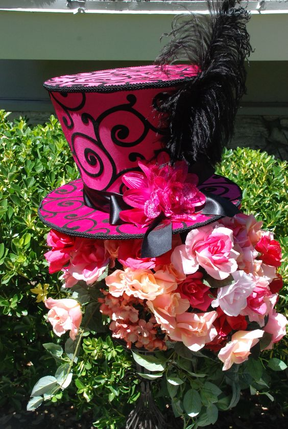 Mad hatter hats hats and wonderland on pinterest for Mad hatter party props