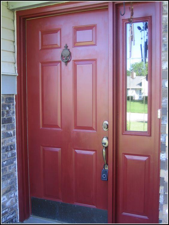 Front door benjamin moore country redwood paint board Front door paint benjamin moore