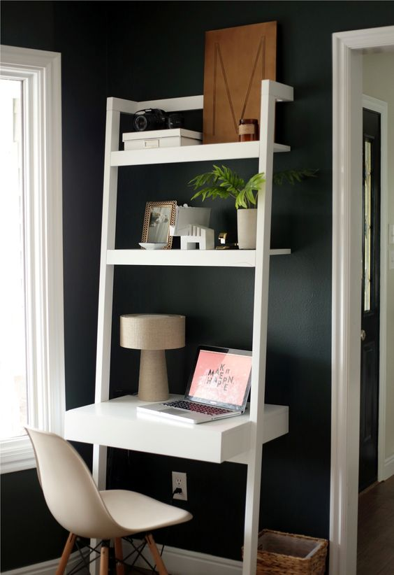 1000 ideas about leaning desk on pinterest desks crate and barrel and bookcases - Desk options for small spaces decoration ...