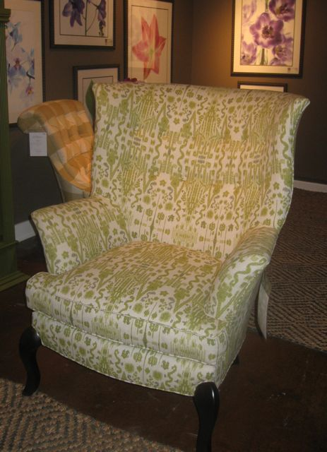 C.R. Laine Wing Chair - want to order it in blue foxtrot fabric