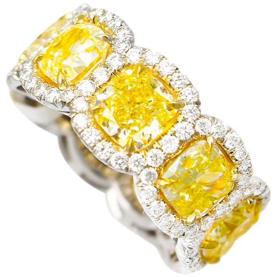 Fancy Yellow Diamond Eternity Band