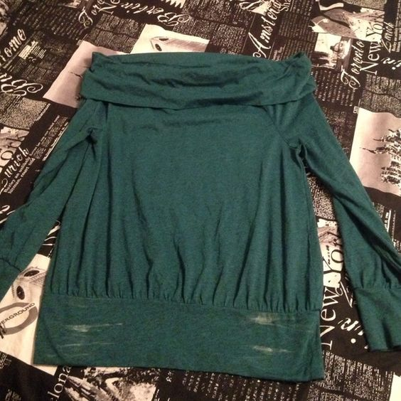 Nordstrom BP sweater Dark green sweater with fold over neck, the marks on the bottom are from being folded. I will clean off for buyer  Rubbish Sweaters