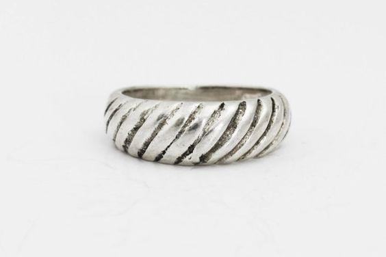 Banda de la plata esterlina anillo de plata por BullionDiamond