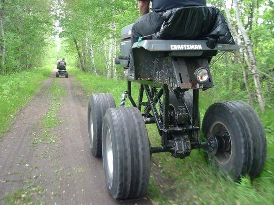 Garden Tractor Custom Truck : Off road mudding bogging mower mudder trucks pinterest