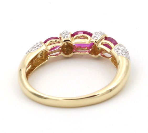 three stone ruby ring - Google Search