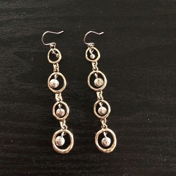Lucky Brand Earrings Brand new Silver and Gold Lucky Brand earrings Lucky Brand Accessories
