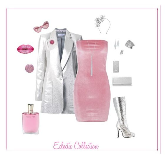 """""""Eclectic Collection"""" by michelechambers ❤ liked on Polyvore featuring Bianca Spender, Boohoo, Jimmy Choo, Moschino, Gigi Burris Millinery, MICHAEL Michael Kors, Ivanka Trump, Tiffany & Co., Miss Selfridge and Talbots"""