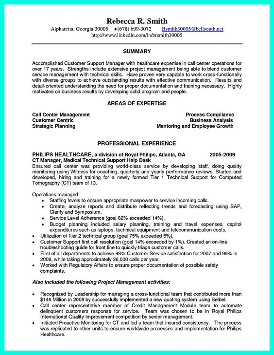 Resume For Customer Service Supervisor Position , Best Freelance
