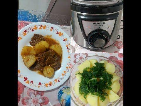 Carne Cozida Com Batatas Na Panela De Pressao Eletrica Youtube