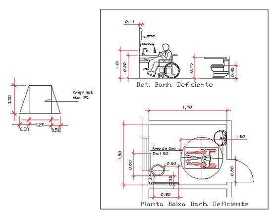 Medidas Banheiro Planta Baixa : Medidas banheiro para deficiente fisico ion