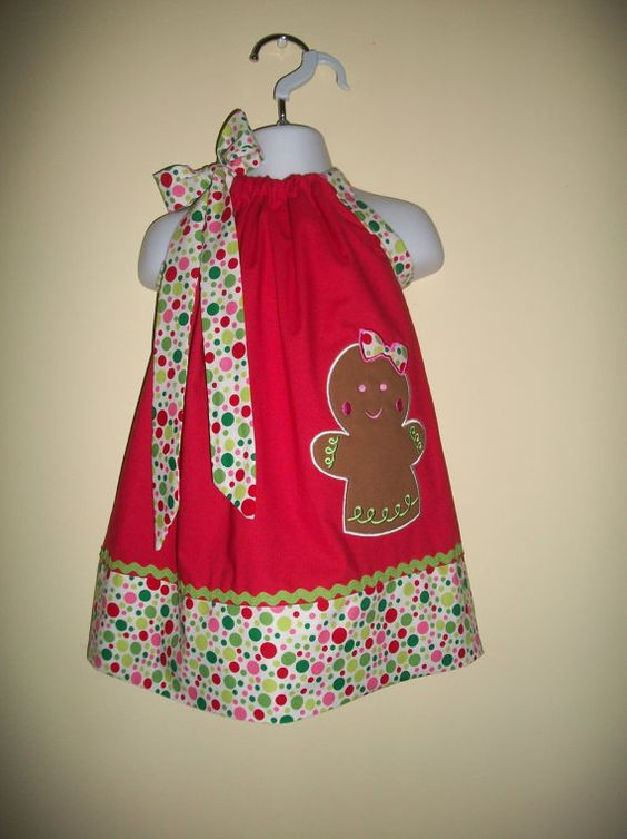 Girl pillowcase dress sizes 3 months to 6 years old christmas