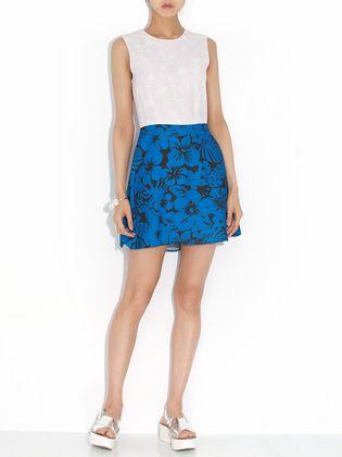 FRIENDS & ASSOCIATES - dancy flower print sleeveless dress switching