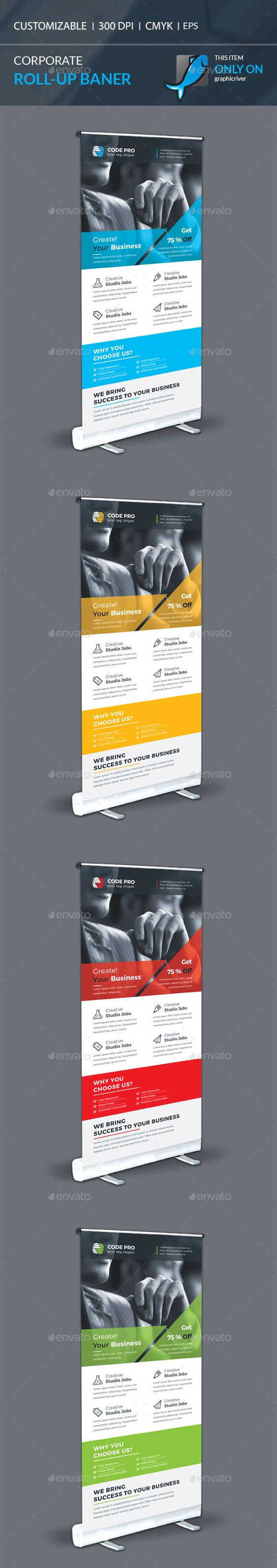 Corporate Roll-up Banner | Rollup banner, Banner template and Ai ...