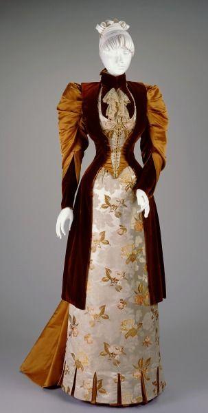 Reception Dress: Bodice and Skirt; attrib. Kate R. Cregmile (American, active 1891-1923). Date:1891-1892 Cincinnati, Ohio, United States. Silk, linen:
