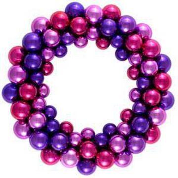 Pink and purple Christmas wreath