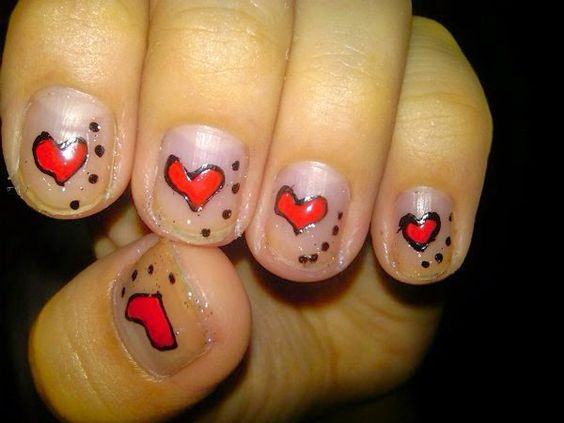 Female,Nails-Art,Style,Hearts-Idea,2014