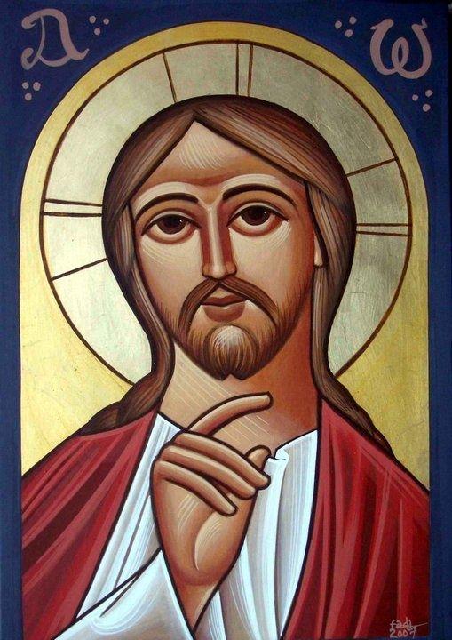 Jesus Christ, COPTIC ICON: