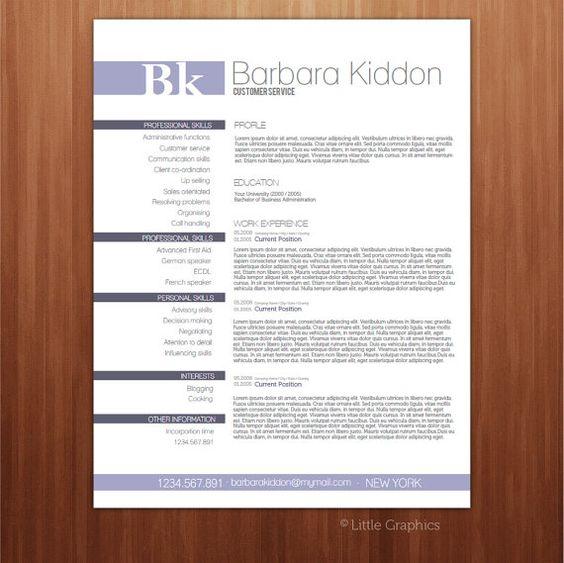 Resume Template PDF form / Custom your resume / / CV Template ...