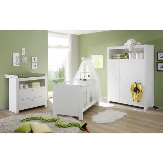 Olivia Chambre Bebe Complete Lit 70 140 Cm Armoire Commode Blanc Chambre Bebe Olivia Chambre Bebe Complete Chambre Bebe
