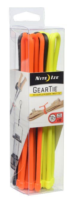 Amazon.com: Nite Ize Gear Tie ProPack Reusable Rubber Twist Tie, 3-Inch, Black: Home Improvement
