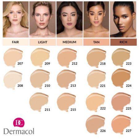 Dermacol Make Up 223 Mini 4g Walmart Com Asian Skin Tone Colors For Skin Tone Skin Tone Makeup