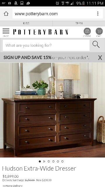 Accessories on dresser