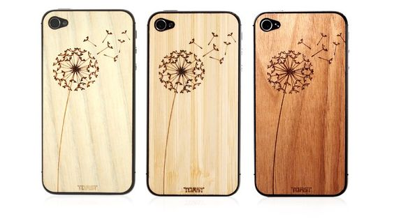 Wooden Dandelion iPhone Veneer by Toast >> These are too cute!