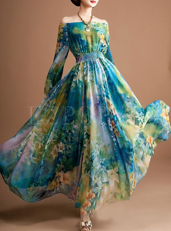 Shop for high quality Blue Square Neck High Waist Maxi Dress online at cheap prices and discover fashion at Ezpopsy.com