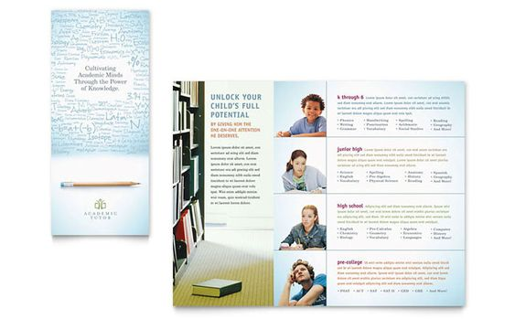 Education Foundation and School Tri Fold Brochure Design Template - microsoft word tri fold brochure template