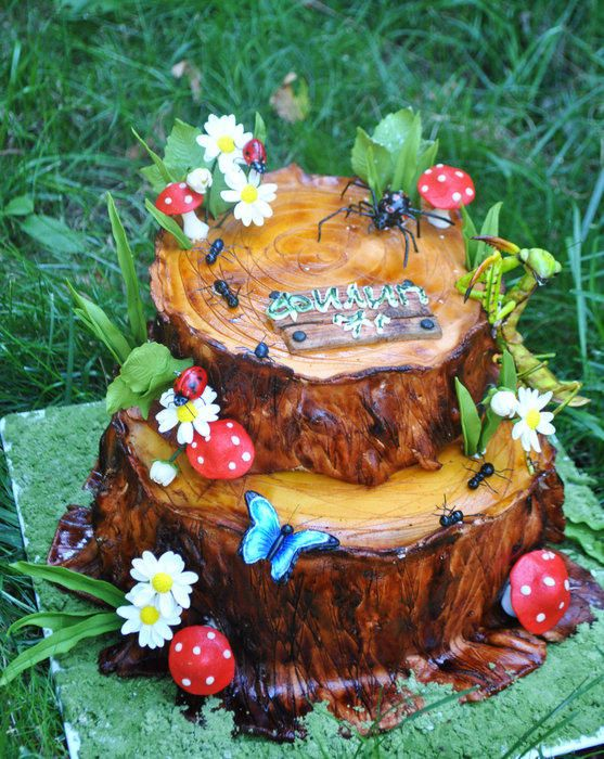 Chocolate Haunted Forest Cake Receta Bizcochos