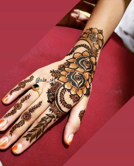 Mehndi Designs Latest Mehndi Design New Style Rose Mehndi Design 2019 Mehndi Designs Rose Mehndi Designs Mehndi Designs For Girls