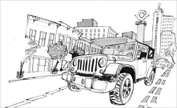 great rubicon illustration done by brett affrunti for car  u0026 driver magazine  another fun one for