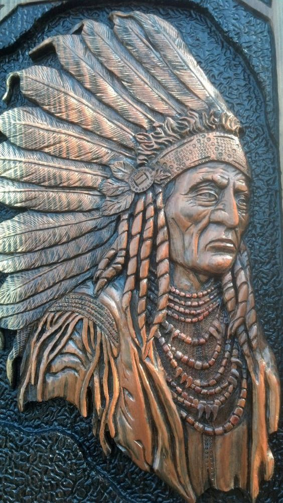 Indian chief wall art key holder by treebonecreations on