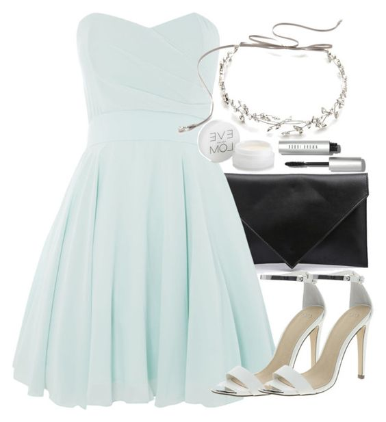 """""""Allison Inspired Wedding Outfit with a Mint Dress"""" by veterization ❤ liked on Polyvore featuring Verali, TFNC, ASOS, Eve Lom, Jenny Packham and Bobbi Brown Cosmetics"""