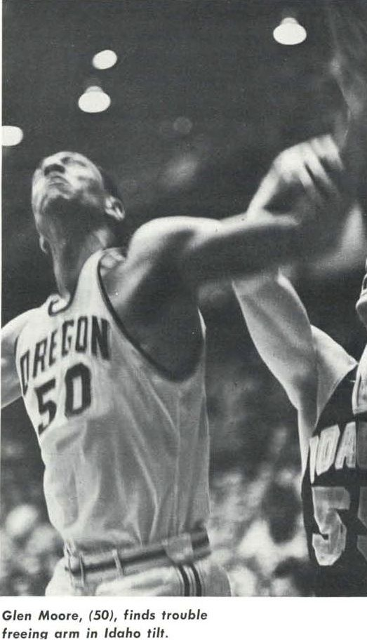 1960-61 Oregon basketball player Glen Moore. From the 1961 Oregana (University of Oregon yearbook). www.CampusAttic.com