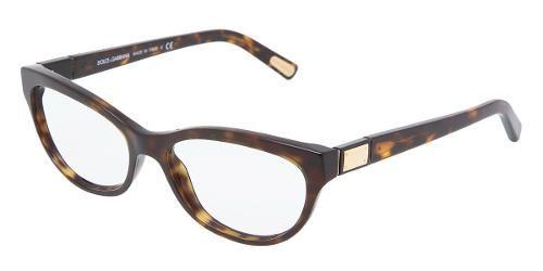 Dolce & Gabbana   Eyewear : modèle 3118 - Collection Lunettes de vue Femmes. Lunettes Œil-de-chat avec monture en plastique havane.
