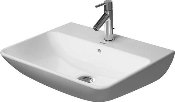 """Duravit 2335600000 ME By Starck 23-5/8"""" Ceramic Bathroom Sink for Wall Mounted o White Fixture Lavatory Sink Vitreous China"""