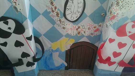Alice In Wonderland Classroom Decoration Ideas ~ Alice in wonderland classroom door theme teacher board