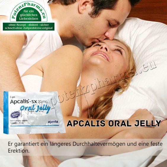 Apcalis Oral Jelly 20mg ist ein gelförmiges Potenzmittel, dass sogar noch nach 2 Tagen spürbar wirkt.