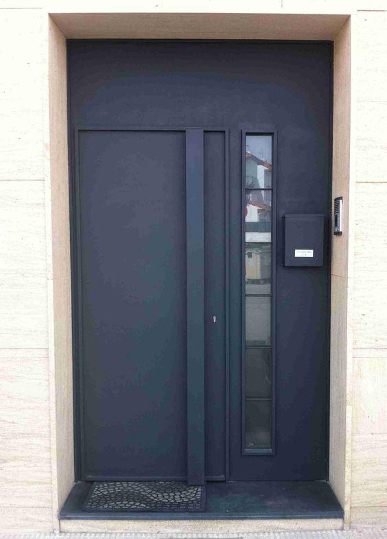 Modelo de puerta de hierro sencilla pesquisa google serralheria pinterest - Modelos de puertas de hierro ...