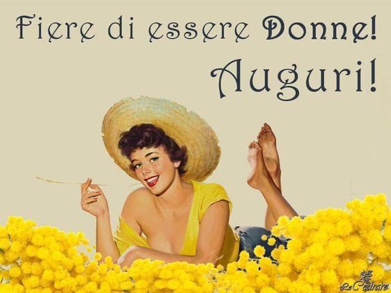 FESTA DELLA DONNA - CARD, GIF E WALLPAPER DI AUGURI