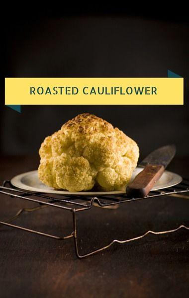 Whole roasted cauliflower, Roasted cauliflower and Thanksgiving ideas ...
