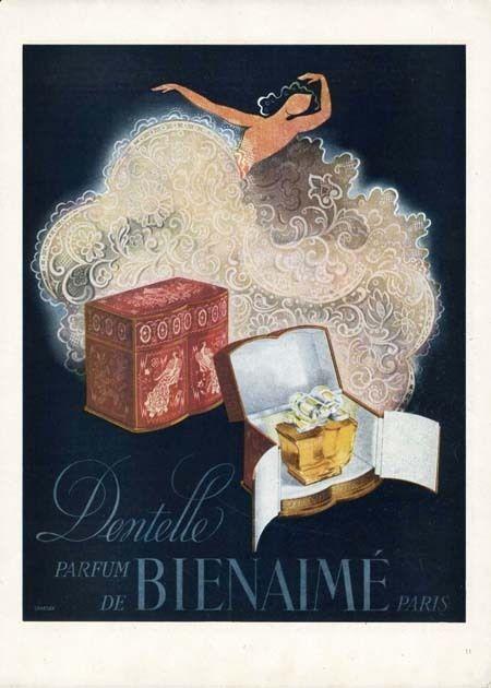 1946 French Dentelle (Lace) de Bienaime'