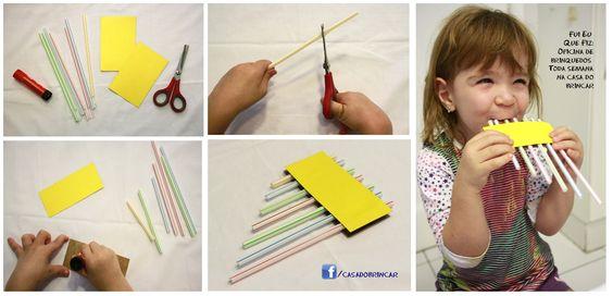 Mais um instrumento musical simples de fazer e que vai divertir as crianças! O Fui Eu Que Fiz desta semana ensina a fazer uma flauta...